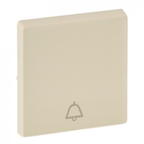 Cover plate Valena Life - push-button - bell symbol - ivory