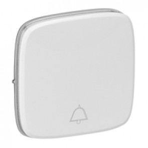 Cover plate Valena Allure - changeover push-button with bell symbol - white