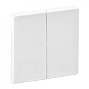 Cover plate Valena Life - 2-gang - white