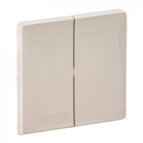 Cover plate Valena Life - 2-gang - ivory