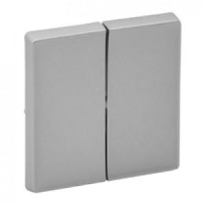 Cover plate Valena Life - 2-gang - aluminium