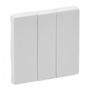 Cover plate Valena Life - 3-gang - white
