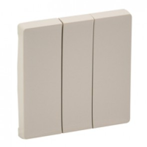 Cover plate Valena Life - 3-gang - ivory