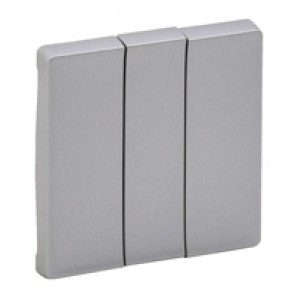Cover plate Valena Life - 3-gang - aluminium