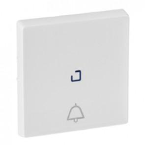 Cover plate Valena Life - illuminated push-button - bell symbol - white