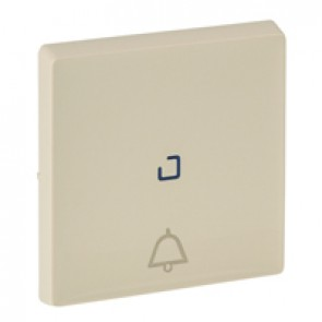 Cover plate Valena Life - illuminated push-button - bell symbol - ivory