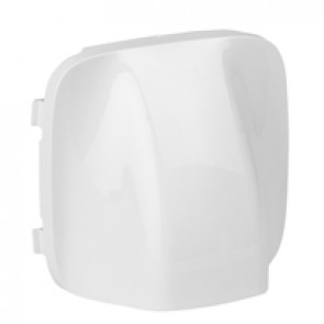 Cover plate Valena Allure - cable outlet - white