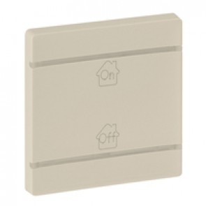 Cover plate Valena Life - GEN/ON/OFF marking - 2 modules - ivory