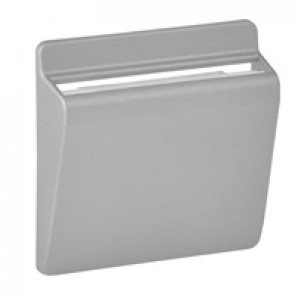 Cover plate Valena Life/Allure - keycard switch - aluminium