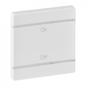 Cover plate Valena Life - ON/OFF marking - 2 modules - white