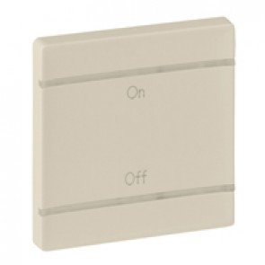 Cover plate Valena Life - ON/OFF marking - 2 modules - ivory