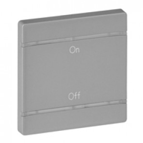 Cover plate Valena Life - ON/OFF marking - 2 modules - aluminium