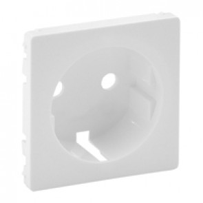 Cover plate Valena Life - 2P+E socket - German standard - white