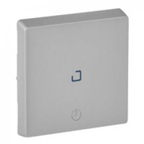 Cover plate Valena Life - time delay switch - aluminium