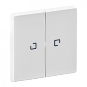 Cover plate Valena Life - 2-gang illuminated / with indicator - white