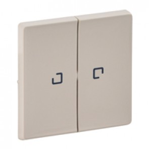 Cover plate Valena Life - 2-gang illuminated / with indicator - ivory