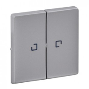 Cover plate Valena Life - 2-gang illuminated / with indicator - aluminium