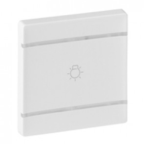 Cover plate Valena Life - light symbol - 2 modules - white