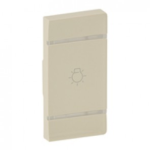 Cover plate Valena Life - light symbol - right-hand side mounting - ivory