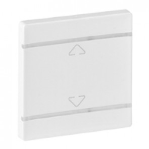 Cover plate Valena Life - Up/Down symbol - 2 modules - white