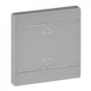Cover plate Valena Life - Up/Down symbol - 2 modules - aluminium