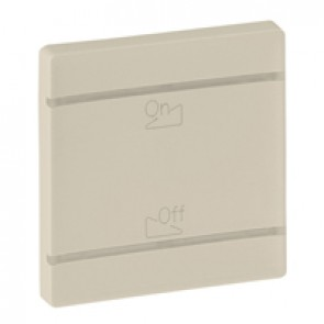 Cover plate Valena Life - dimmer symbol - 2 modules - ivory