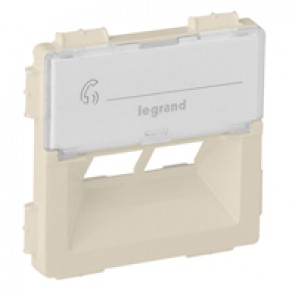 Cover plate Valena Life - double RJ 45 socket cover - ivory