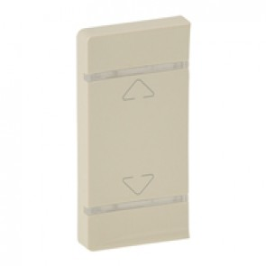 Cover plate Valena Life - Up/Down symbol - either side mounting - ivory