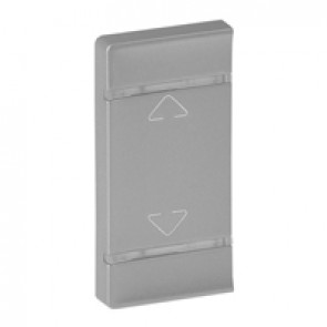 Cover plate Valena Life - Up/Down symbol - either side mounting - aluminium
