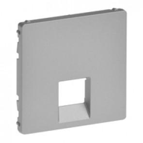 Cover plate Valena Life - RJ 45/RJ 11 socket - aluminium