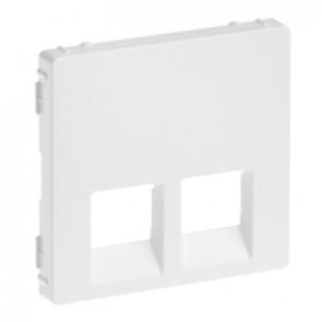 Cover plate Valena Life - double RJ 45/RJ 11 or RJ 45 + RJ 11 socket - white