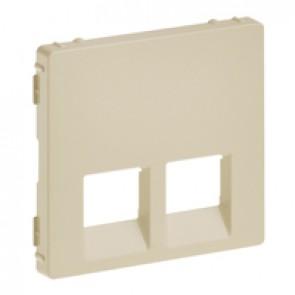 Cover plate Valena Life - double RJ 45/RJ 11 or RJ 45 + RJ 11 socket - ivory