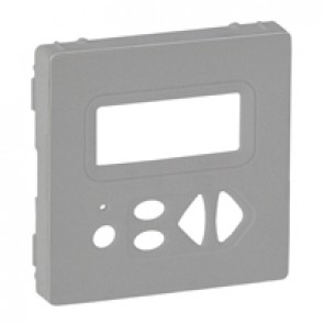 Cover plate Valena Life - local control with display - aluminium