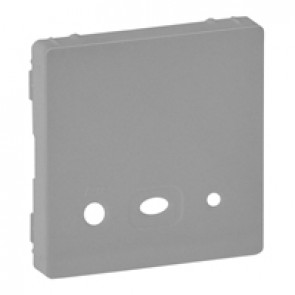Cover plate Valena Life - source input with power supply - aluminium