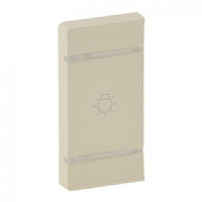 Cover plate Valena Life - light symbol - left-hand side mounting - ivory