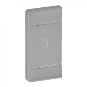 Cover plate Valena Life - light symbol - left-hand side mounting - aluminium