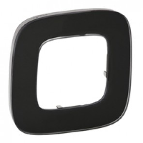 Plate Valena Allure - 1 gang - black glass