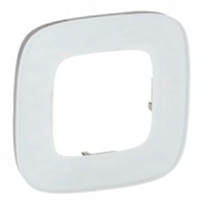 Plate Valena Allure - 1 gang - white glass