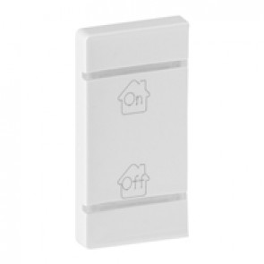 Cover plate Valena Life - GEN/ON/OFF marking - left-hand side mounting - white