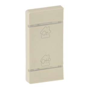 Cover plate Valena Life - GEN/ON/OFF marking - left-hand side mounting - ivory