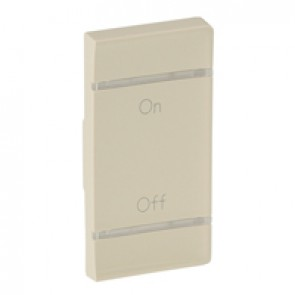 Cover plate Valena Life - ON/OFF marking - right-hand side mounting - ivory