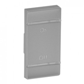 Cover plate Valena Life - ON/OFF marking - right-hand side mounting - aluminium