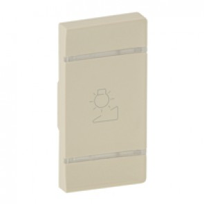 Cover plate Valena Life - regulation symbol - right-hand side mounting - ivory