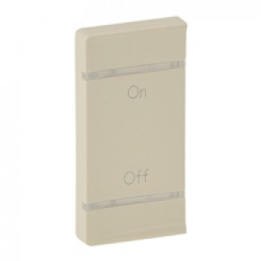 Cover plate Valena Life - ON/OFF marking - left-hand side mounting - ivory