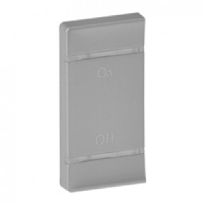 Cover plate Valena Life - ON/OFF marking - left-hand side mounting - aluminium