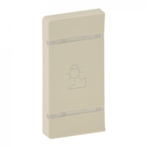 Cover plate Valena Life - regulation symbol - left-hand side mounting - ivory