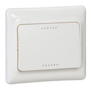 One-way switch Kaptika - flush mounting - 10 AX 250 V~ - white