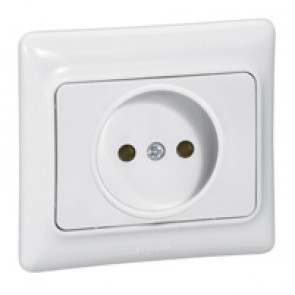 2P socket outlet Kaptika - flush mounting - 16 A 250 V~ - white