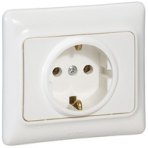 2P+E German standard socket outlet Kaptika -flush mounting- 16 A 250 V~ -white