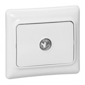 Television socket Kaptika - flush mounting - male connector - white